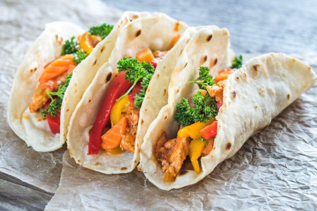 Des tacos au poulet