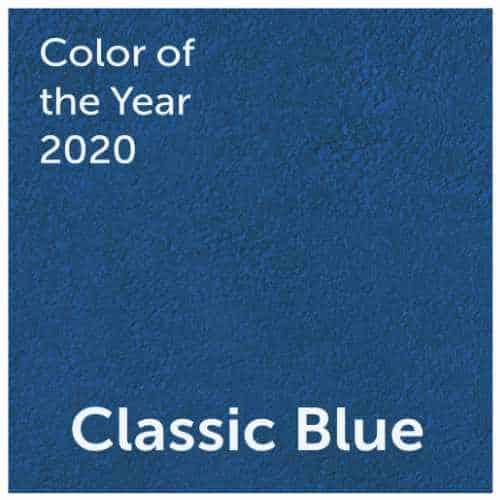 """La couleur de l'année 2020 est """"Classic Blue"""""""