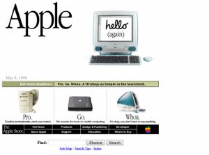 Apple en 1998, CSS non présent