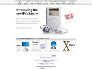 Apple en 2002, CSS non présent