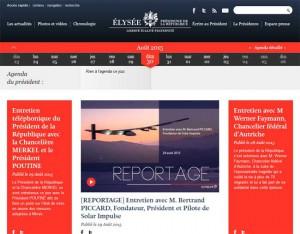 Site de l'Elysée en 2015