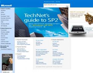 Microsoft en 2004, CSS présent