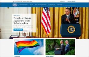 Site de la Maison Blanche en 2015